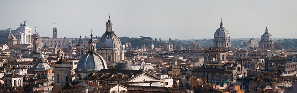 """Panorama View of Rome, Italy"""
