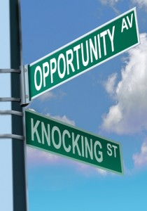 """When opportunity knocks in your career"""