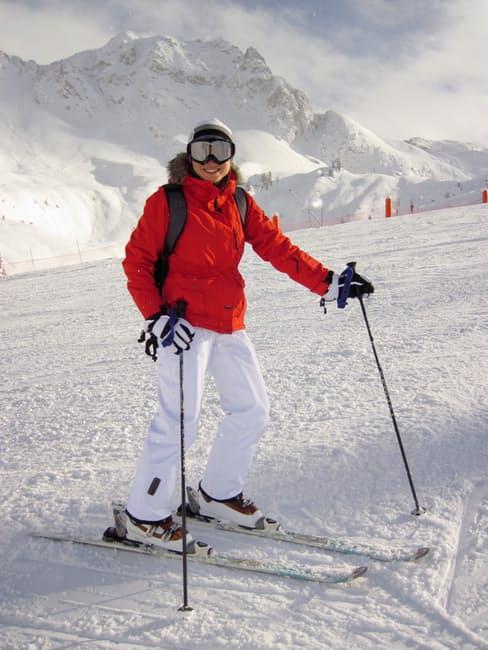 """""""woman skiing"""""""