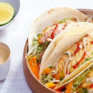 """FISH TACOS WITH TAHINI"""