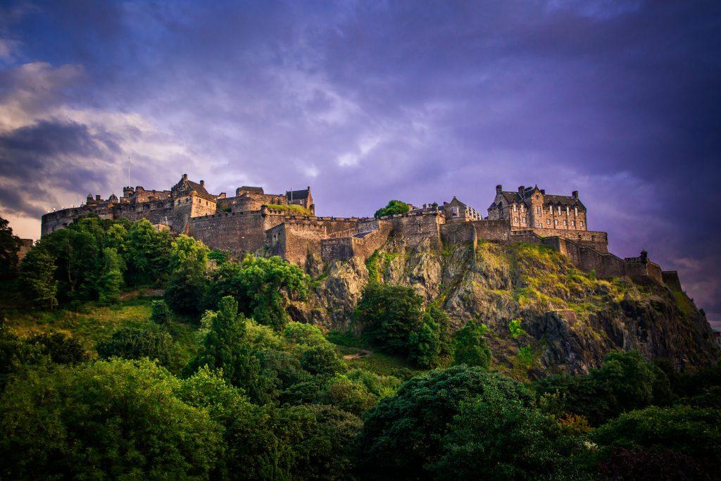 """Edinburgh Castle in Scotland"""