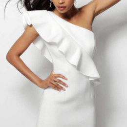 White One Shoulder Dresses