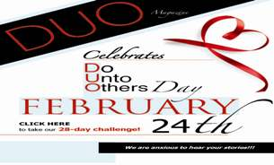 February 24th is Do Unto Others Day
