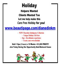 """Holiday Help Wanted beauticontrol ad"""