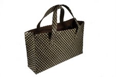 oversize woven bag by five accessories