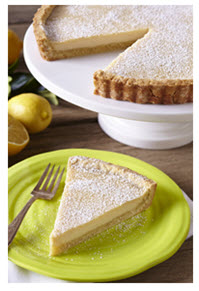 """Summer Desserts Tofu Lemon Tart with Olive Oil Crust"""