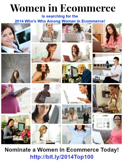 """Nominate a Top 100 Woman in Ecommerce for 2014"""