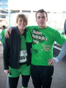 Trisha Mueller and Brother at Saint Pattys Day Race