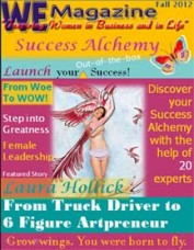 """WE Magazine Fall 2012 Success Alchemy"""