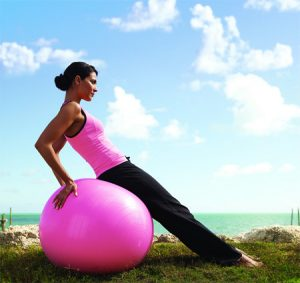 """ball exercise for abdominal strength"""
