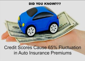"""Did You know? Credit Scores Cause 65% Fluctuation in Auto Insurance Premiums"""